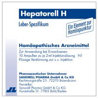 Hepatorell H, 10X2 ML, Sanorell Pharma GmbH & Co. KG