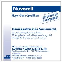 Nuvorell, 10X2 ML, Sanorell Pharma GmbH & Co. KG