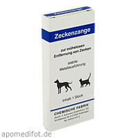 Zeckenzange aus Metall, 1 ST, Pharmamedico GmbH