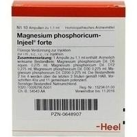 MAGNESIUM PHOS INJ FORTE, 10 ST, Biologische Heilmittel Heel GmbH