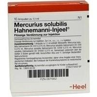 MERCURIUS SOL HAHN INJ, 10 ST, Biologische Heilmittel Heel GmbH
