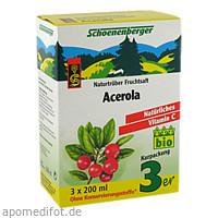 ACEROLA SCHOENENBERGER HEILPFLANZENSÄFTE, 3X200 ML, Salus Pharma GmbH