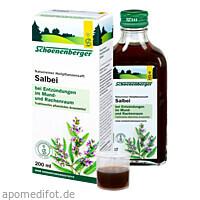 SALBEI SCHOENENBERGER HEILPFLANZENSÄFTE, 200 ML, Salus Pharma GmbH