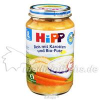 HIPP 6530 Feiner Reis m.Karotten und BIO-Pute, 220 G, Hipp GmbH & Co.Vertrieb KG