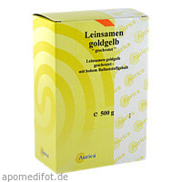 Leinsamen goldgelb geschrotet, 500 G, Aurica Naturheilm.U.Naturwaren GmbH