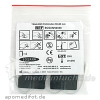 ELEKTRODEN selbstkl.mehrf.verw.quadratisch 50x50mm, 4 ST, Bosana Medizintechnik GmbH