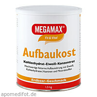 MEGAMAX Aufbaukost Erdbeere, 1.5 KG, Megamax B.V.