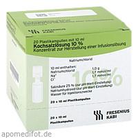 KOCHSALZ 10%, 20X10 ML, Fresenius Kabi Deutschland GmbH
