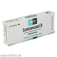 CONTRAMUTAN D Tabletten, 40 ST, MCM Klosterfrau Vertriebsgesellschaft mbH