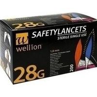 Wellion Safetylancets 28G Sicherheitseinmallanz, 200 ST, Med Trust GmbH