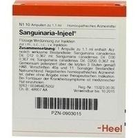 SANGUINARIA INJ, 10 Stück, Biologische Heilmittel Heel GmbH