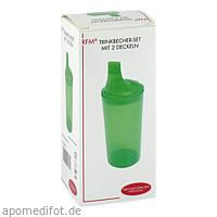 Trinkbecher mit 2 Deckeln grün, 1 ST, Rehaforum Medical GmbH