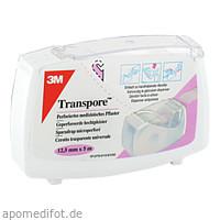Transpore 1.25cmX5m Pflaster auf Abroller, 1 ST, 3M Medica Zwnl.d.3M Deutschl. GmbH