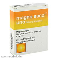 Magno sanol uno 245mg Kapseln, 20 ST, APONTIS PHARMA Deutschland GmbH & Co. KG