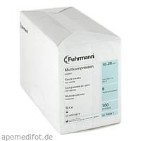 Mullkompressen 10x20cm unsteril 8-fach, 100 ST, Fuhrmann GmbH