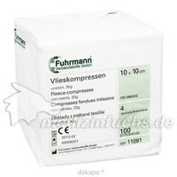 Vlieskompressen 10x10cm 4lagig unsteril, 100 ST, Fuhrmann GmbH