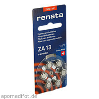 Renata Hörgeräte Batterien ZA 13 Blister, 1X6 ST, Dominik Kosteletzky