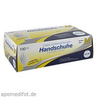Einmal Handschuhe Latex puderfrei M, 100 ST, Param GmbH