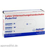 Einmal Handschuhe Latex puderfrei S, 100 ST, Param GmbH