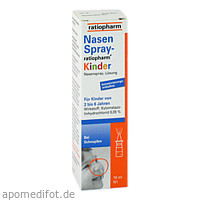 Nasenspray-ratiopharm Kinder, 10 ML, ratiopharm GmbH