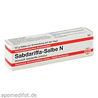 Sabdariffa Salbe N, 50 G, Dhu-Arzneimittel GmbH & Co. KG