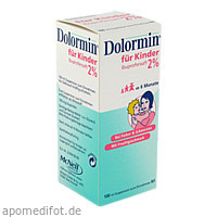 DOLORMIN für Kinder 2% Ibuprofen Suspension, 100 ML, Johnson & Johnson GmbH (OTC)