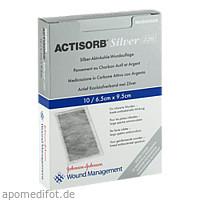 ACTISORB 220 Silver 9.5x6.5cm steril, 10 ST, Kci Medizinprodukte GmbH