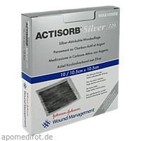 ACTISORB 220 Silver 10.5x10.5 steril, 10 ST, Kci Medizinprodukte GmbH