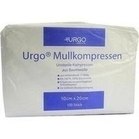 Urgo Mullkompresse unsteril 10x20cm 8fach, 100 ST, Urgo GmbH