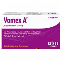 VOMEX A 150MG, 10 ST, Klinge Pharma GmbH