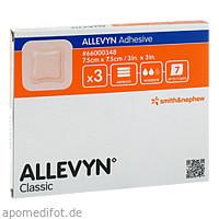 ALLEVYN Adhesive 7.5x7.5cm haftende Wundauflage, 3 ST, 1001 Artikel Medical GmbH