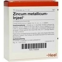 ZINCUM MET INJ, 10 ST, Biologische Heilmittel Heel GmbH