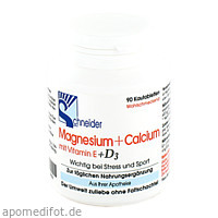 Magnesium + Calcium Kautabletten, 90 ST, J.Schneider GmbH