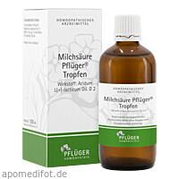 Milchsäure Pflüger Tropfen, 100 ML, Homöopathisches Laboratorium Alexander Pflüger GmbH & Co. KG