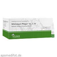 Milchsäure Pflüger Injektionslösung 5ml, 50 ST, Homöopathisches Laboratorium Alexander Pflüger GmbH & Co. KG