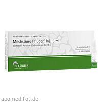 Milchsäure Pflüger Injektionslösung 5ml, 10 ST, Homöopathisches Laboratorium Alexander Pflüger GmbH & Co. KG
