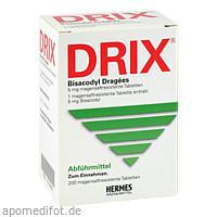 DRIX Bisacodyl Dragees, 200 ST, Hermes Arzneimittel GmbH