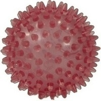 Igelball 9cm rot-transparent, 1 ST, Ludwig Bertram GmbH