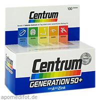 CENTRUM Gen.50+ A-Zink+FloraGlo Lutein Caplette, 100 ST, Pfizer Consumer Healthcare GmbH