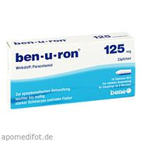 ben-u-ron 125mg Zäpfchen, 10 ST, Bene Arzneimittel GmbH