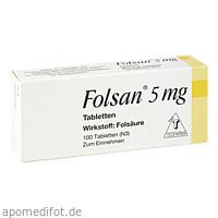Folsan 5mg, 100 ST, Teofarma S.R.L.