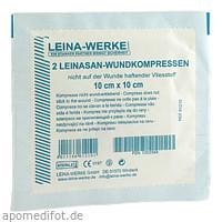 Leina Wundkompressen 10x10cm steril, 2 ST, Leina-Werk GmbH