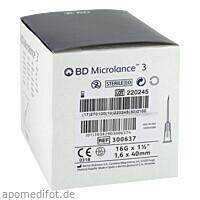 BD Microlance 3 Sonderkanüle G16 1 1/2 1.65x40mm, 100 ST, Becton Dickinson GmbH