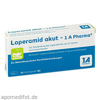 Loperamid akut-1A Pharma, 10 ST, 1 A Pharma GmbH
