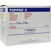 TOPPER 8 Kompr. steril 7.5x7.5cm, 50X2 ST, Junek Europ-Vertrieb GmbH