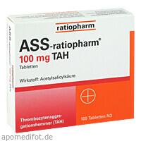 Ass-ratiopharm 100mg TAH, 100 ST, ratiopharm GmbH