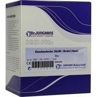 Einnehmebecher 2Griffe+Deckel 4mm blau, 1 Stück, Dr. Junghans Medical GmbH