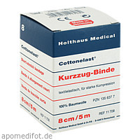 Kurzzugbinde Cottonelast 8cmx5m, 1 ST, Holthaus Medical GmbH & Co. KG