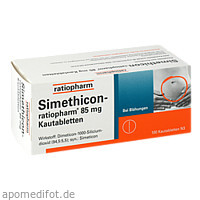 Simethicon-ratiopharm 85MG Kautabletten, 100 ST, ratiopharm GmbH