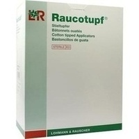 Raucotupf Stieltupfer 2 St steril klein Wattekopf, 100X2 ST, Lohmann & Rauscher GmbH & Co. KG